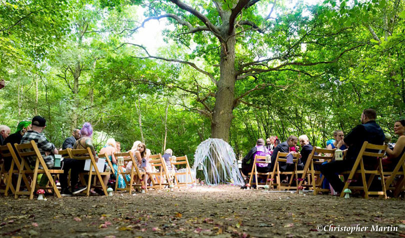 Handfasting celebration in London